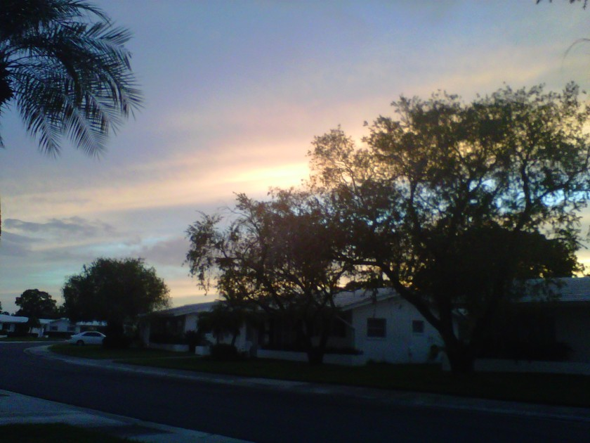 Dusk, Pinellas Park, Florida on October 25, 2012