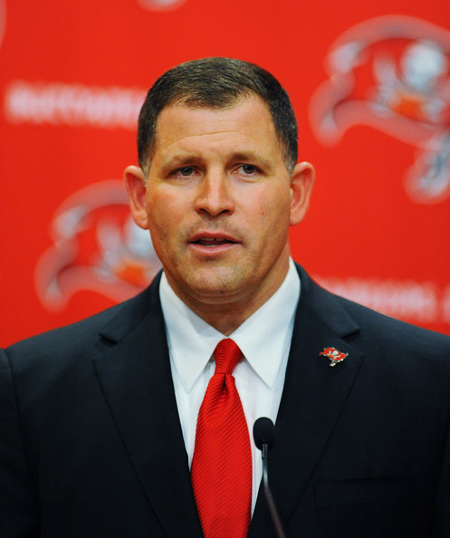 The current coach of the Tampa Bay Buccaneers, Greg Schiano.  He still has a job, for now.
