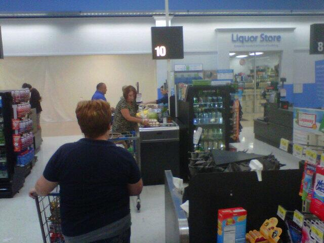 In line at Walmart, Pinellas Park, Fla. on October 4, 2013.