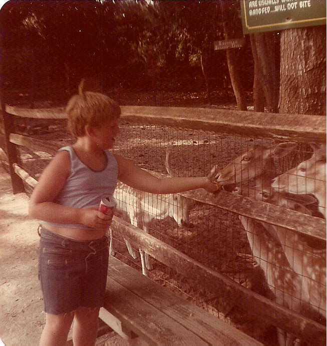 Feeding the animals at Marineland.  St. Augustine, Florida during the summer of 1978.