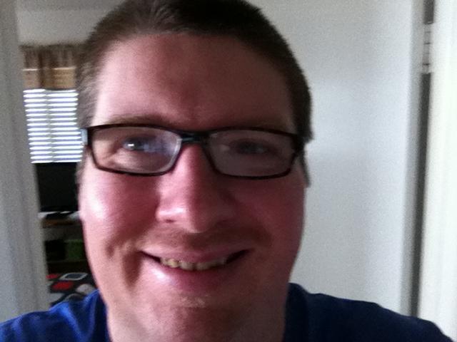 Me, January 13, 2014...do I look happier?