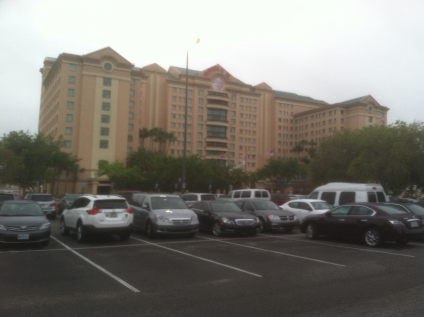The Florida Hotel in Orlando, FL on a drizzly Friday morning. April 18, 2014.