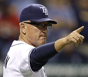 Joe Maddon, manager of the Tampa Bay Rays.