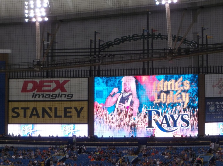80's Day at Tropicana Field, September 6, 2014.