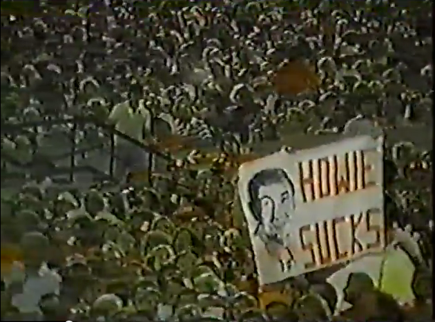 Someone didn't care for Howard Cosell during the Bucs-Rams game on September 11, 1980.