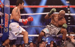 Manny Pacquiao is on the left, Floyd