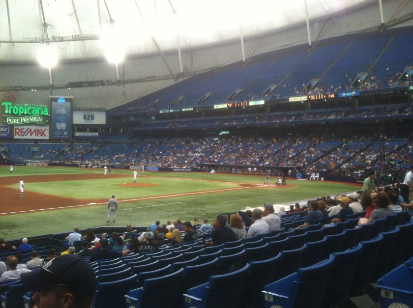 I had an ever changing view of the Rays-Mariners game, May 27, 2015.