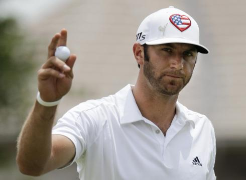 Golfer Dustin Johnson, also known as Mr. Paulina Gretzky.