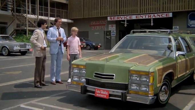 Eugene Levy, Chevy Chase, Anthony Michael Hall and a station wagon...