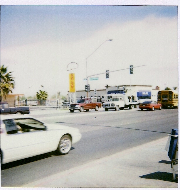 Eastern and Fremont Streets in Las Vegas, March 2000.