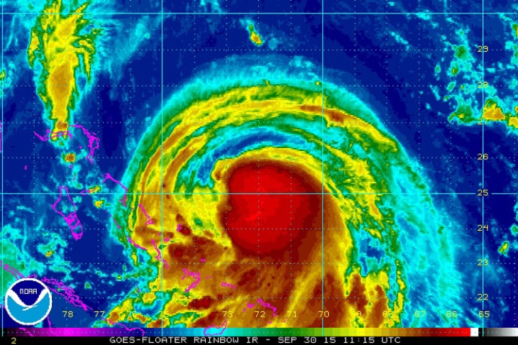 Hurricane Joaquin on September 30, 2015.