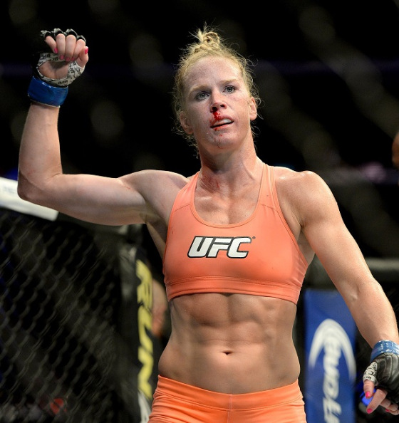 Holly Holm, the first woman to beat Ronda Rousey in the UFC octagon.