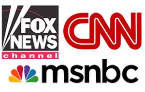 CNN Fox MSNBC